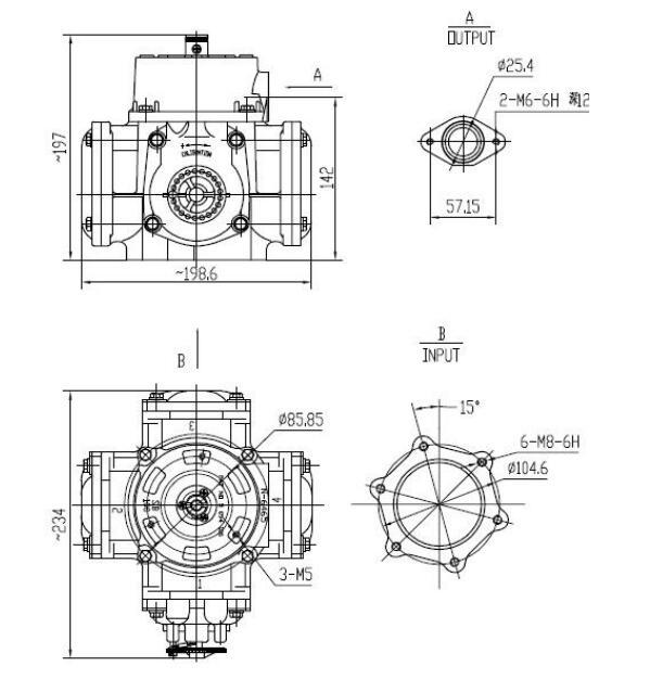 Positive Displacement Flow Meter Fuel Dispenser Flow Meter